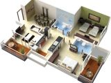 Plan 3d Home Bedroom Position In Home Design Plans 3d This for All
