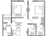 Plan for00 Square Feet Home Floor Plan for 2bhk House In India