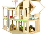 Plan toys Doll Houses Plan toys Green Dolls 39 House with Furniture