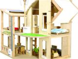 Plan toys Eco House Wooden Dollhouse Eco Friendly Doll House by Plan toys