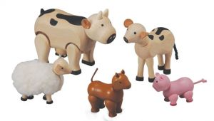 Plan toys Farm House Plan toys Farm Animals Set 7135 Wooden Farm Animals