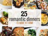 Planning A Romantic Dinner at Home 25 Romantic Dinners the Cookie Rookie