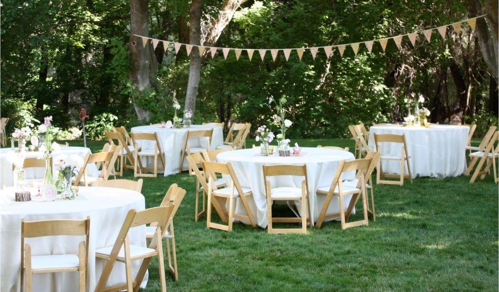 Planning An Outdoor Wedding At Home Backyard Wedding Reception