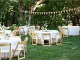 Planning An Outdoor Wedding at Home Backyard Wedding Reception Decoration Ideas Wedding