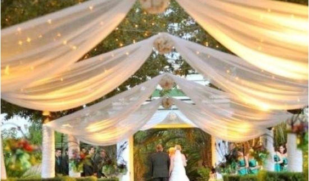 Planning An Outdoor Wedding At Home Outdoor Reception Ideas Design