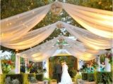 Planning An Outdoor Wedding at Home Outdoor Reception Ideas Design with Small Lamps for