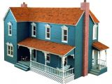 Plans for A Doll House R14 3059 Farmhouse Dollhouse Vintage Woodworking Plan