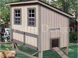 Plans for Chicken Coops Hen Houses 4 39 X6 39 Modern Style Chicken Hen House Coop Plans