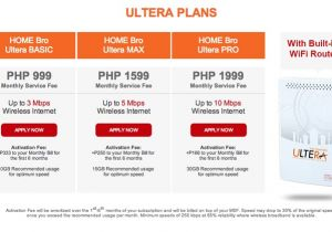 Pldt Home Dsl Plan Pldt Home Bro Ultera Offers Lte Speed Internet Connection