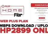 Pldt Home Fibr Plan99 Pldt Home Fibr Unveiled Power Plus Plan 2899 Per Month