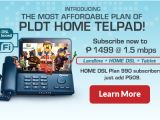Pldt Home Plan99 Telpad Tablet Internet Phone Pldt Home
