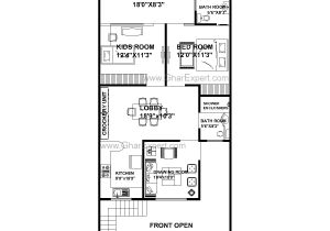 Plot Plans for My House 20 X 50 Square Feet House Plans Beautiful House Plan for