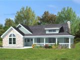 Porch Home Plans One Level House Plans with Wrap Around Porch