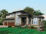 Prarie House Plans Contemporary Prairie with Daylight Basement 69105am
