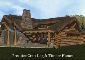Precisioncraft Log Home Floor Plans Rendering Of A Handcrafted Log Home Log Home Located In