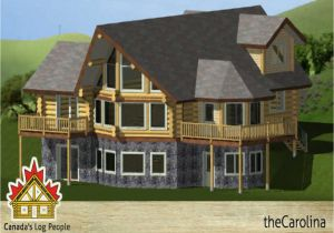 Prow Front Home Plans Log Home Basements Prow Front Log Home House Plans