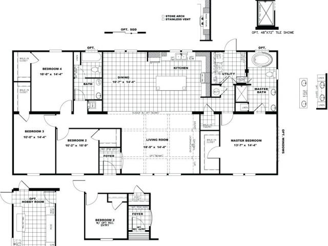 Quadruple Wide Mobile Home Floor Plans Quadruple Wide Mobile