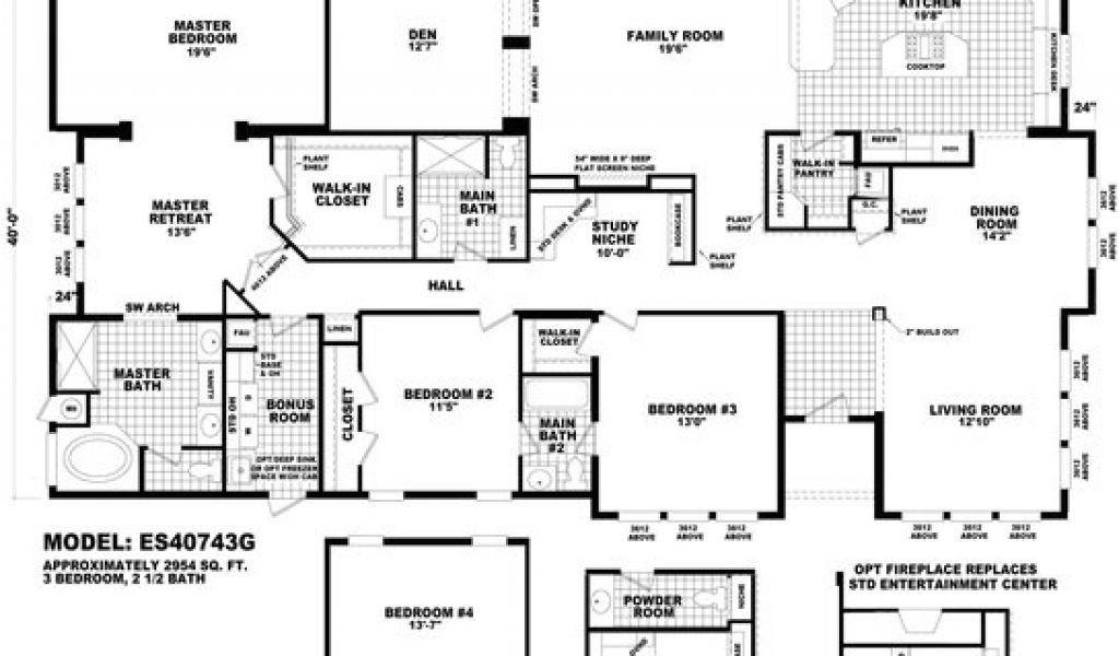 Quadruple Wide Mobile Home Floor Plans wholesale