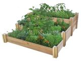 Raised Garden Bed Plans Home Depot Gronomics 48 In X 50 In X 19 In Multi Level Rustic