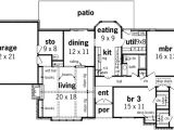 Rambling Ranch House Plans Rambling Ranch with Wet Bar 55099br 1st Floor Master
