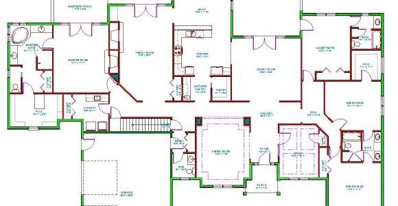 Ranch Home Floor Plans Split Bedrooms Mediterranean House Plan Single Level Mediterranean Ranch