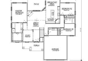 Ranch Home Plans with Basements 1996sf Ranch House Plan W Garage On Basement