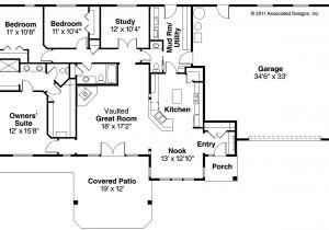 Ranch Homes Floor Plans Ranch House Plans Elk Lake 30 849 associated Designs