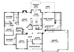 Ranch Homes Floor Plans Ranch House Plans Pleasanton 30 545 associated Designs