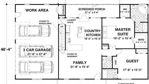 Ranch House Plans Under 1500 Square Feet House Plan 92395 at Familyhomeplans Com