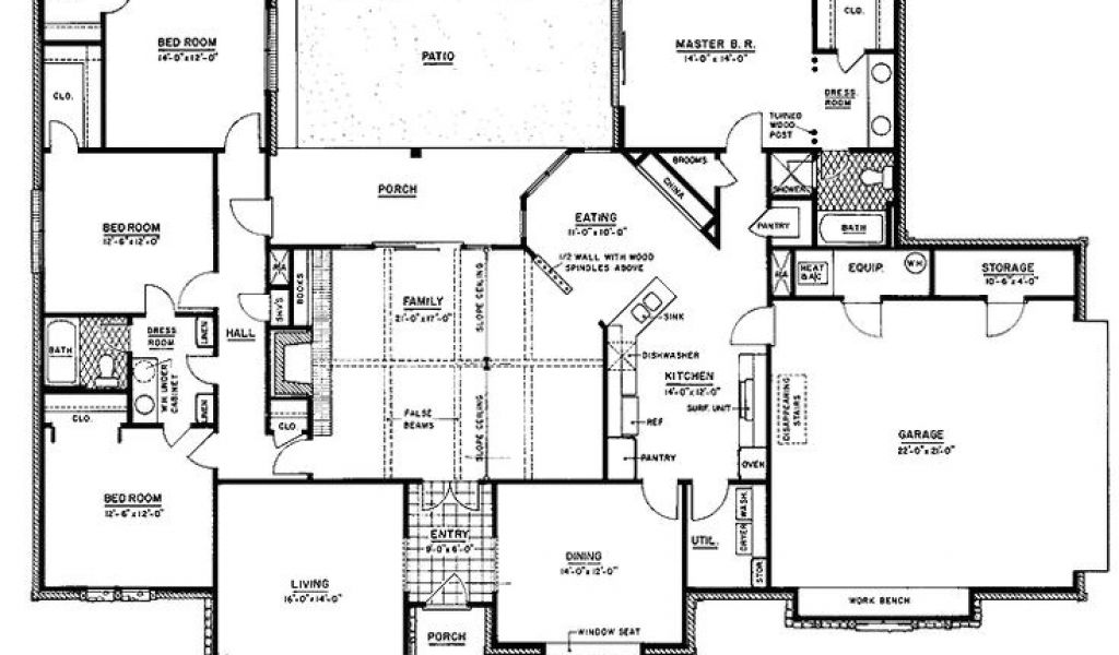 Ranch House Plans With Jack And Jill Bathroom Ranch Style Housing