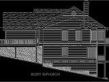 Rear View Home Plans Rear View House Plan W Daylight Basement