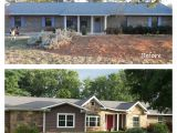 Remodel Plans for Ranch Style House before and after Exterior Renovation Ranch House Remodel