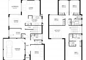 Residential Home Design Plans Residential House Floor Plan with Dimensions Home Deco Plans