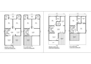 Residential Home Plans Cad Dwg Drawings Residential Building In Autocad Plan for 2d with
