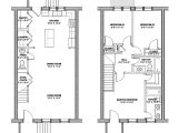 Row Home Floor Plan Rowhouse Plans Find House Plans