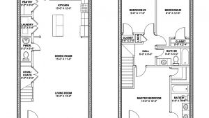 Row Home Floor Plans Rowhouse Plans Find House Plans