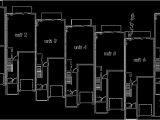 Row Housing Plans Narrow Row House W Large Master Open Living area Sv 726m