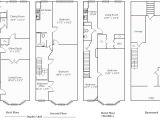 Row Housing Plans Rowhouse Floor Plans Unique House Plans