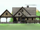 Rustic Home Plans with Walkout Basement 3 Bedroom Open Floor Plan with Wraparound Porch and