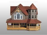 Scale Model House Plans Old Victorian Home Finished with Model Builder Patterns