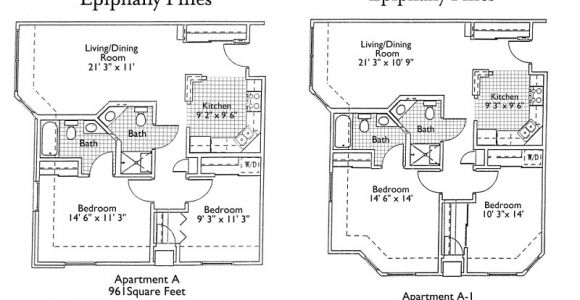 Senior Housing Floor Plans Epiphany Senior Living Floor Plans