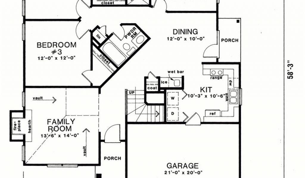 Shallow Lot Ranch House Plans Torlina Ranch Narrow Lot Home Plan