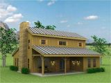 Shed Home Plans Barn Style Exterior with Galvanized Siding and Red Windows