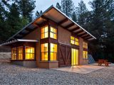 Shed Roof Home Plans Small Cabin Style Straw Bale Walls Nice Sloped Roof