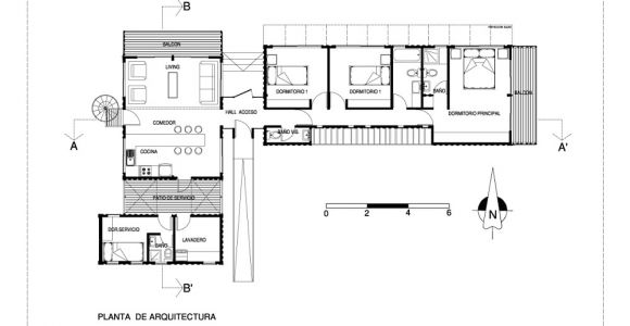 Shipping Container Home Plan Bright Cargo Container Casa In Chile