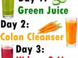 Simple Home Detox Plan the New Year 72 Hours Juice Cleanse Healthy Drinks