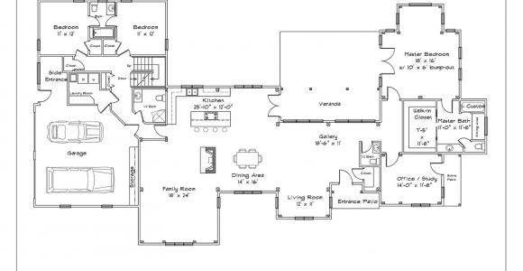 Single Floor Home Design Plans Single Story House Plans with Open Floor Plan Cottage