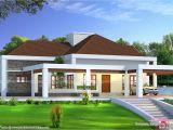 Single Home Plans Stunning Single Floor House Above Road Level Kerala Home
