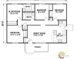 Single Level Home Floor Plans House Plan 94451 at Familyhomeplans Com