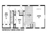Single Mobile Home Floor Plans Single Wide Modular Homes Mobile Home Plans Bestofhouse